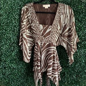 Michael Kors Animal Print Tunic